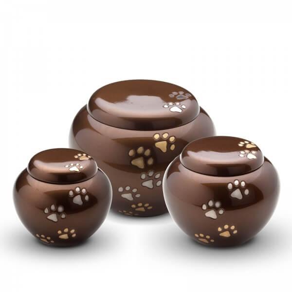 urnen - messing - urnen - bruin - veel pootjes